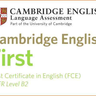 English B2 First Certificate ONLINE   Lunes y miércoles de 19:30 a 20:50h  